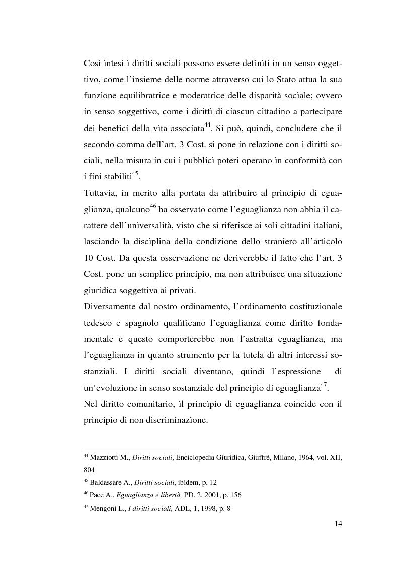 Anteprima della tesi: I diritti sociali e l'Unione europea, Pagina 14