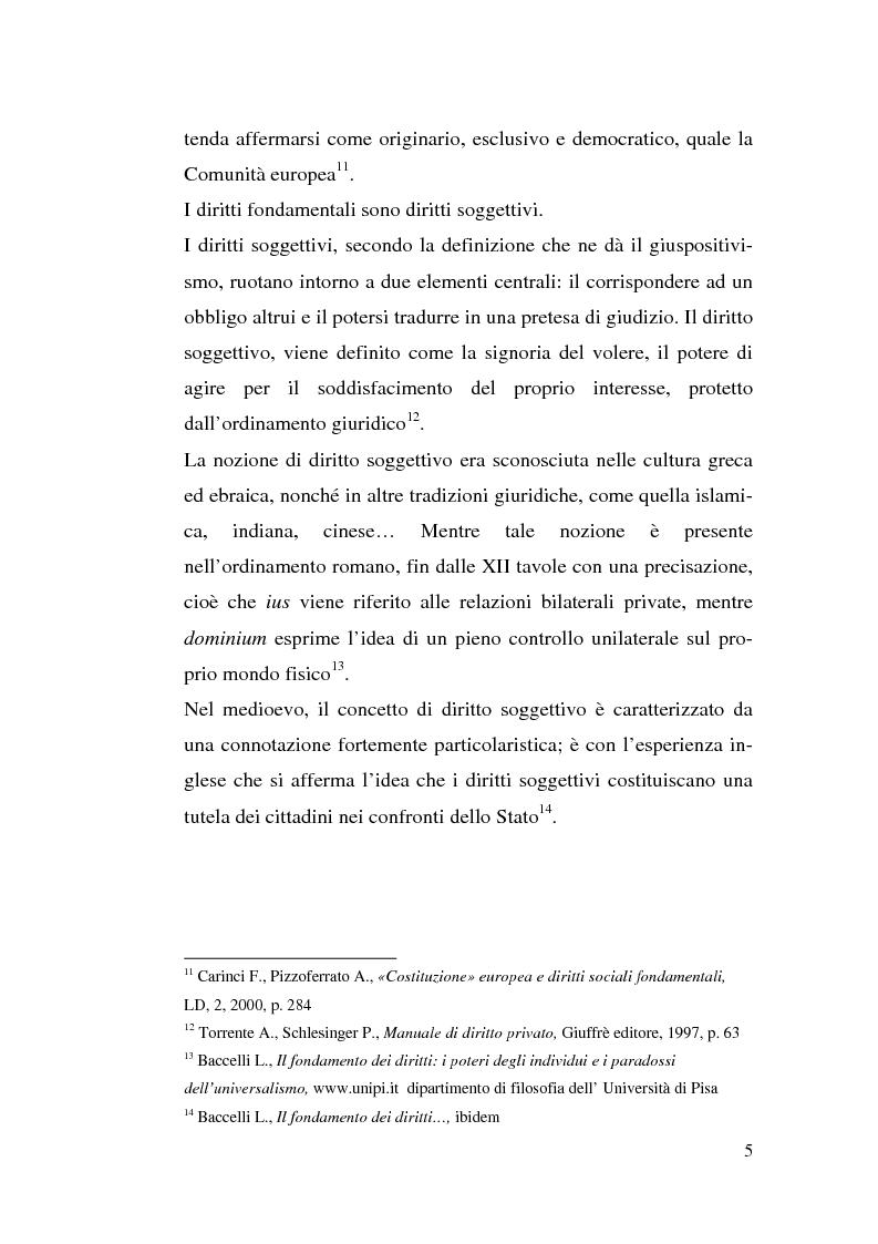 Anteprima della tesi: I diritti sociali e l'Unione europea, Pagina 5