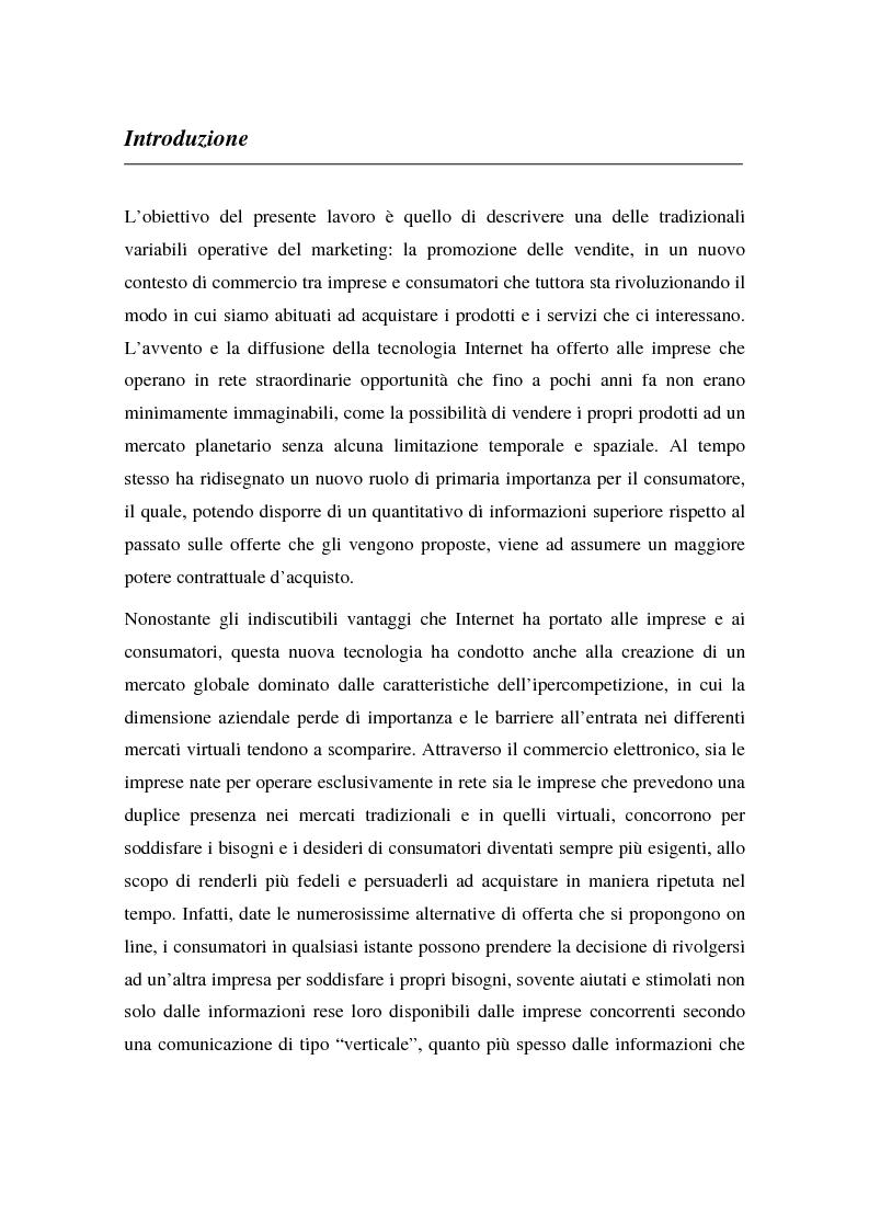 Anteprima della tesi: La promozione delle vendite on line: strategie e tecniche, Pagina 1