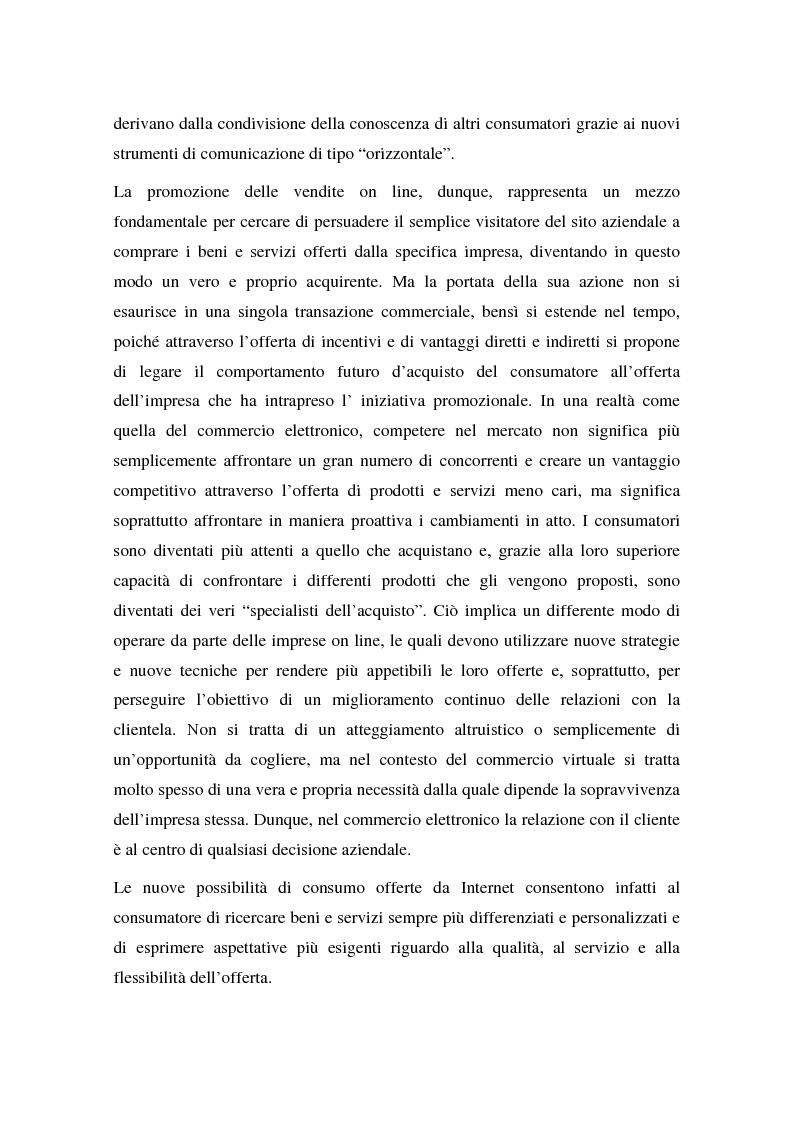 Anteprima della tesi: La promozione delle vendite on line: strategie e tecniche, Pagina 2