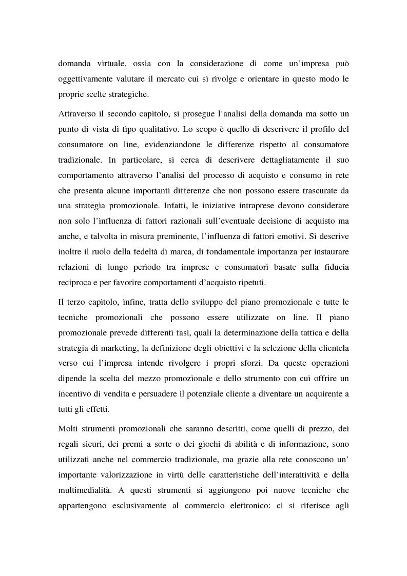 Anteprima della tesi: La promozione delle vendite on line: strategie e tecniche, Pagina 4