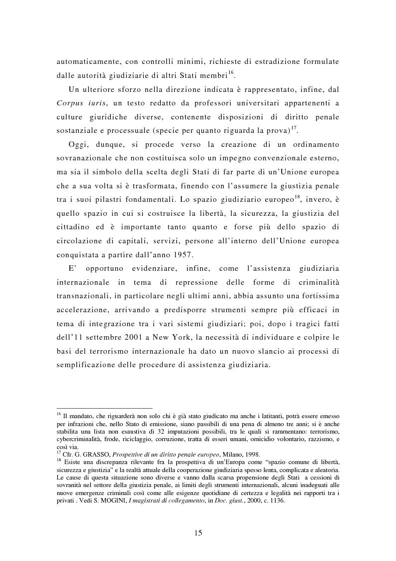 Anteprima della tesi: Le rogatorie internazionali in materia penale, Pagina 10