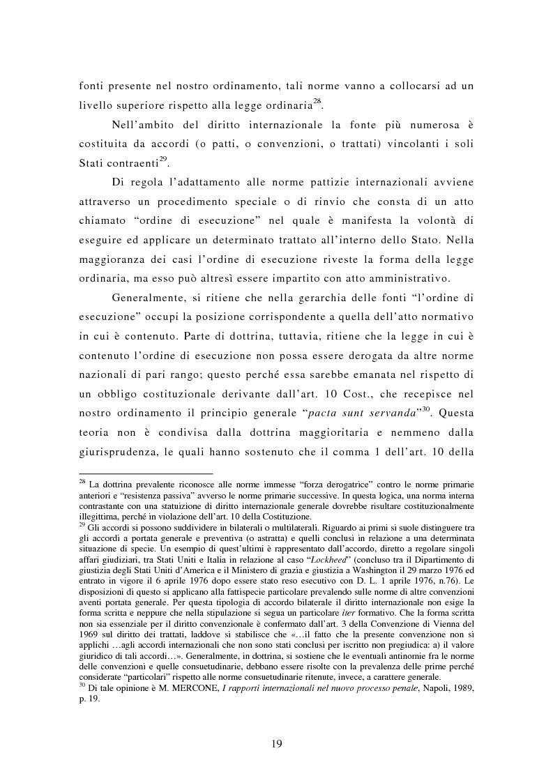 Anteprima della tesi: Le rogatorie internazionali in materia penale, Pagina 14