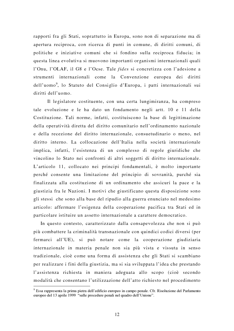 Anteprima della tesi: Le rogatorie internazionali in materia penale, Pagina 7