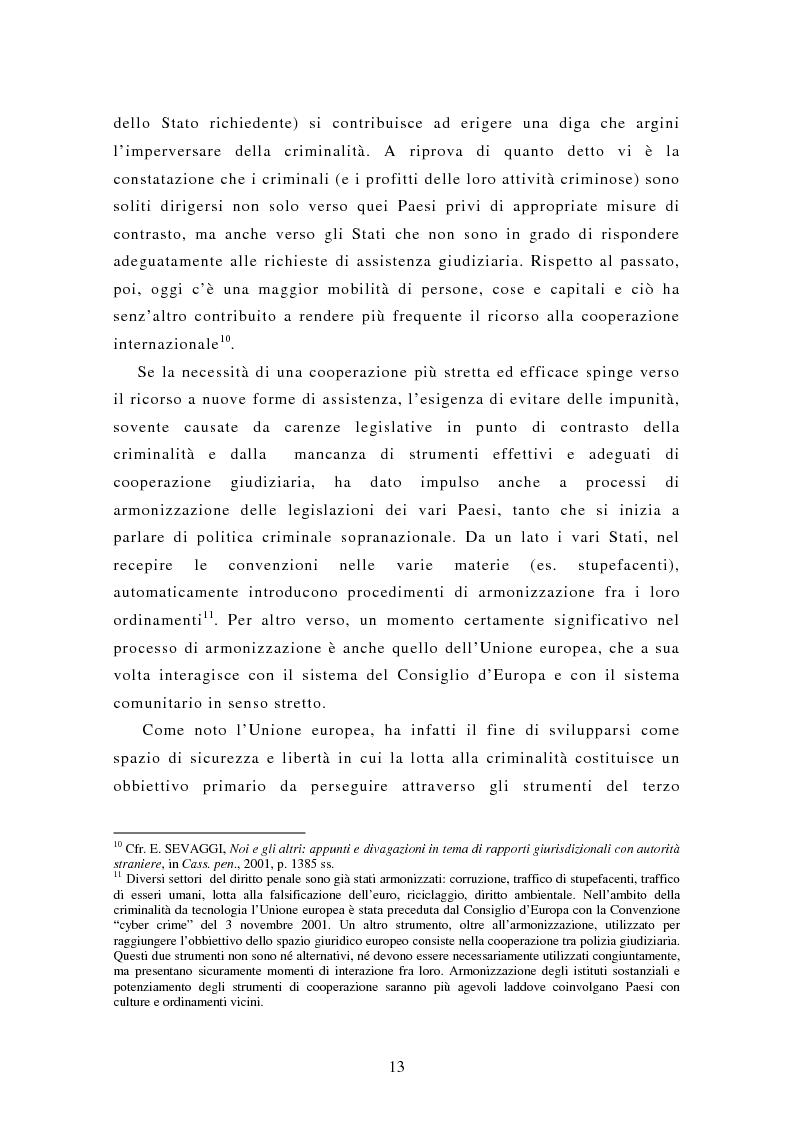 Anteprima della tesi: Le rogatorie internazionali in materia penale, Pagina 8