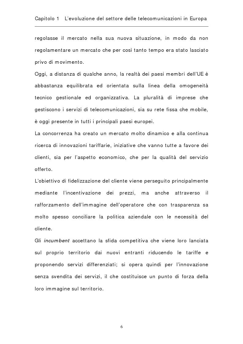 Anteprima della tesi: La riorganizzazione del settore delle telecomunicazioni in Europa, Pagina 9