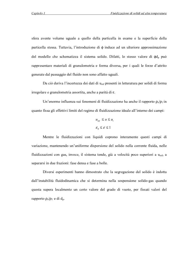 Anteprima della tesi: L'influenza della temperatura sulle proprietà delle fasi di letti fluidizzati di solidi diversi, Pagina 14