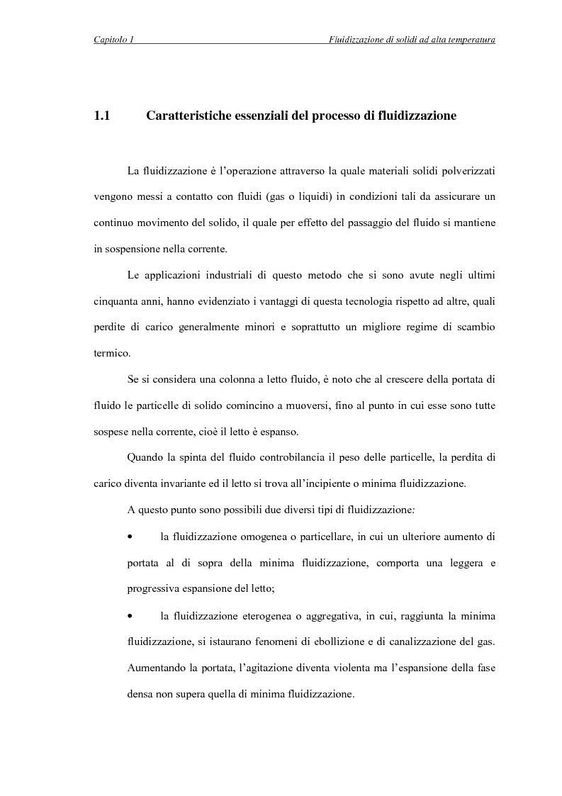 Anteprima della tesi: L'influenza della temperatura sulle proprietà delle fasi di letti fluidizzati di solidi diversi, Pagina 5
