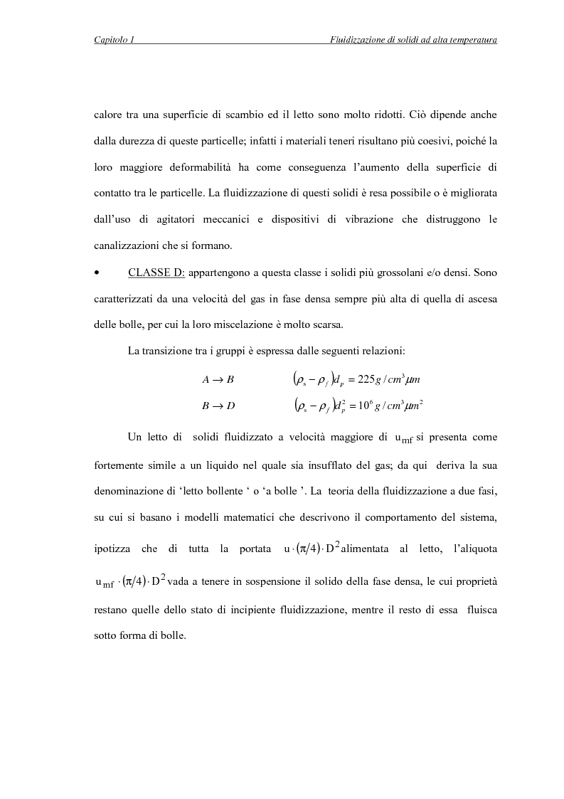 Anteprima della tesi: L'influenza della temperatura sulle proprietà delle fasi di letti fluidizzati di solidi diversi, Pagina 8
