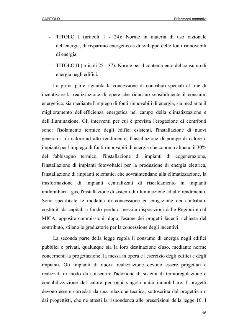 Anteprima della tesi: Piani Energetici e Ambientali Comunali: definizione dei criteri per la scelta degli interventi, Pagina 14