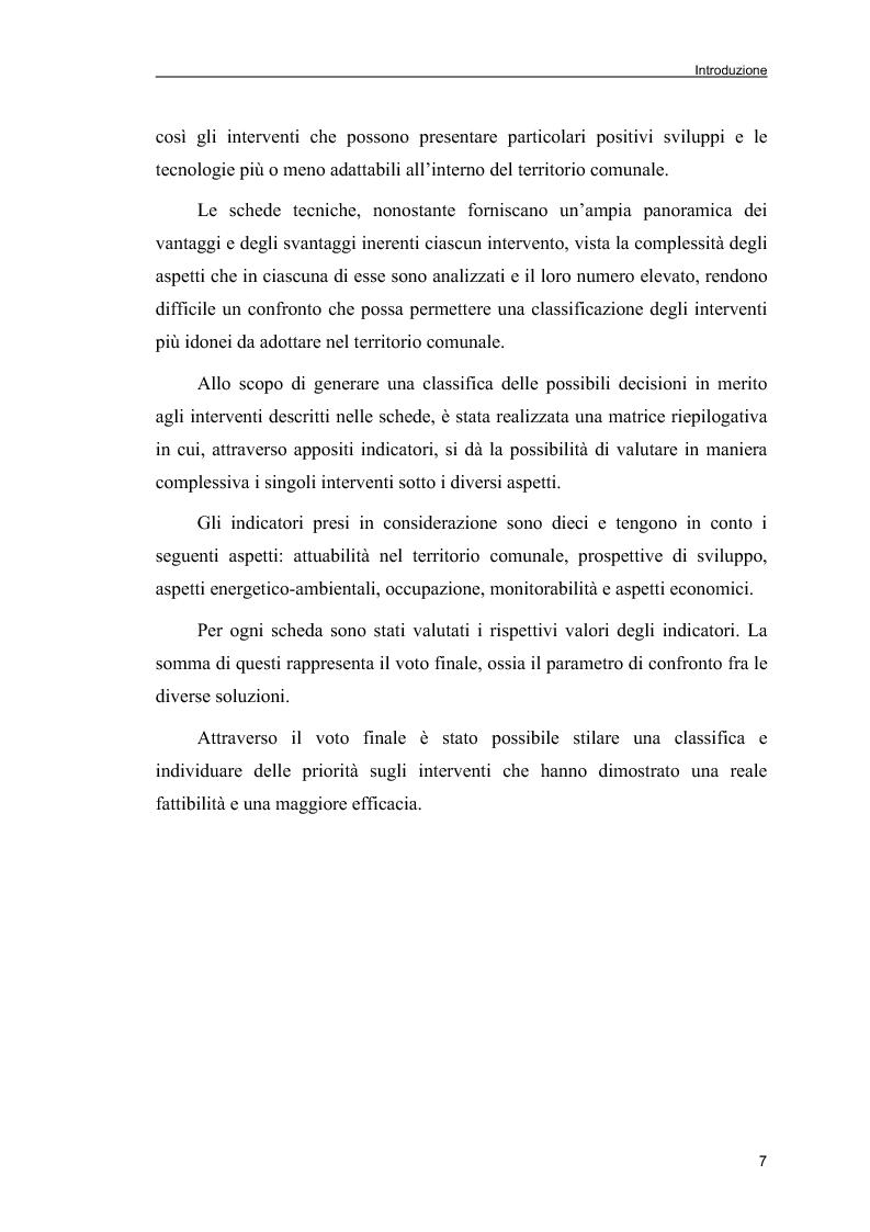 Anteprima della tesi: Piani Energetici e Ambientali Comunali: definizione dei criteri per la scelta degli interventi, Pagina 5