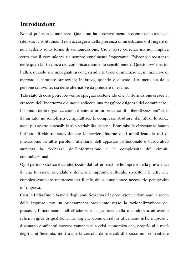 Anteprima della tesi: La comunicazione aziendale interna: il caso Tim, Pagina 1