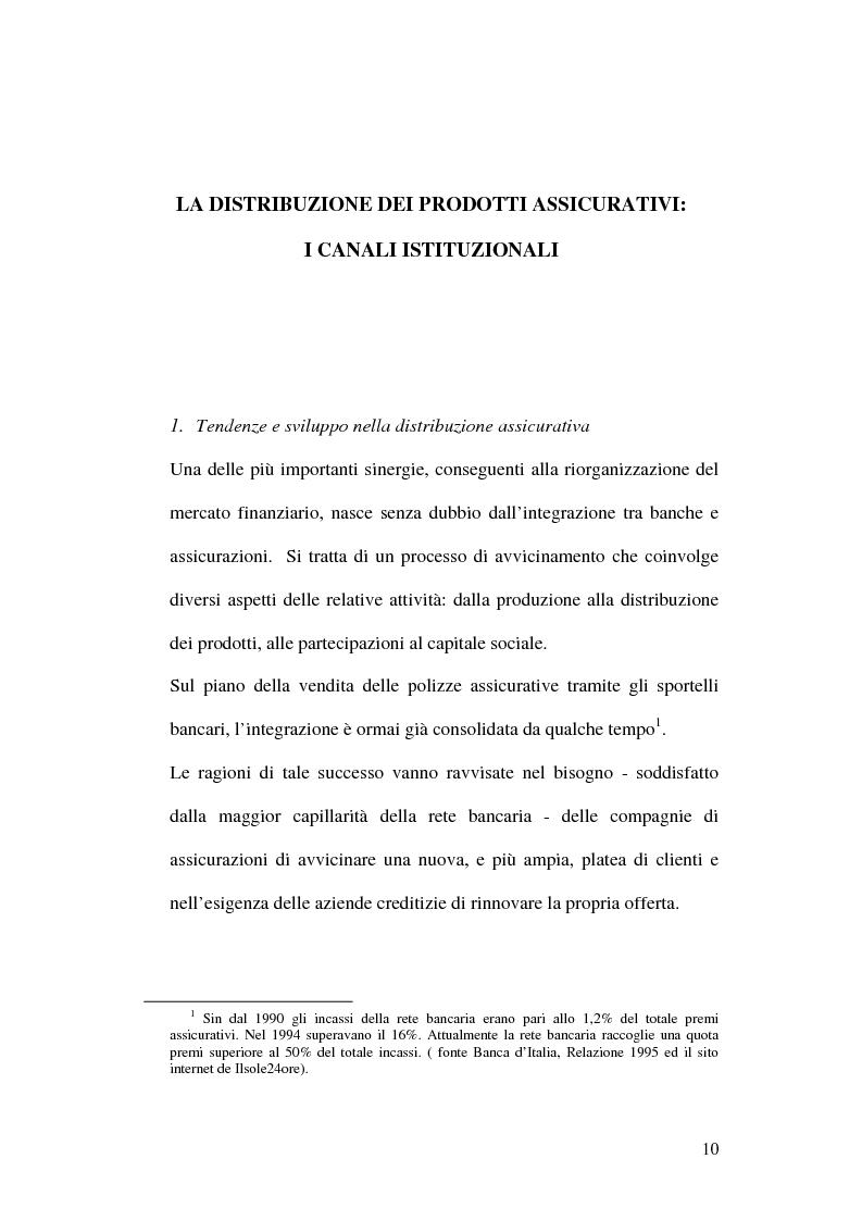 Anteprima della tesi: La bancassicurazione, Pagina 12