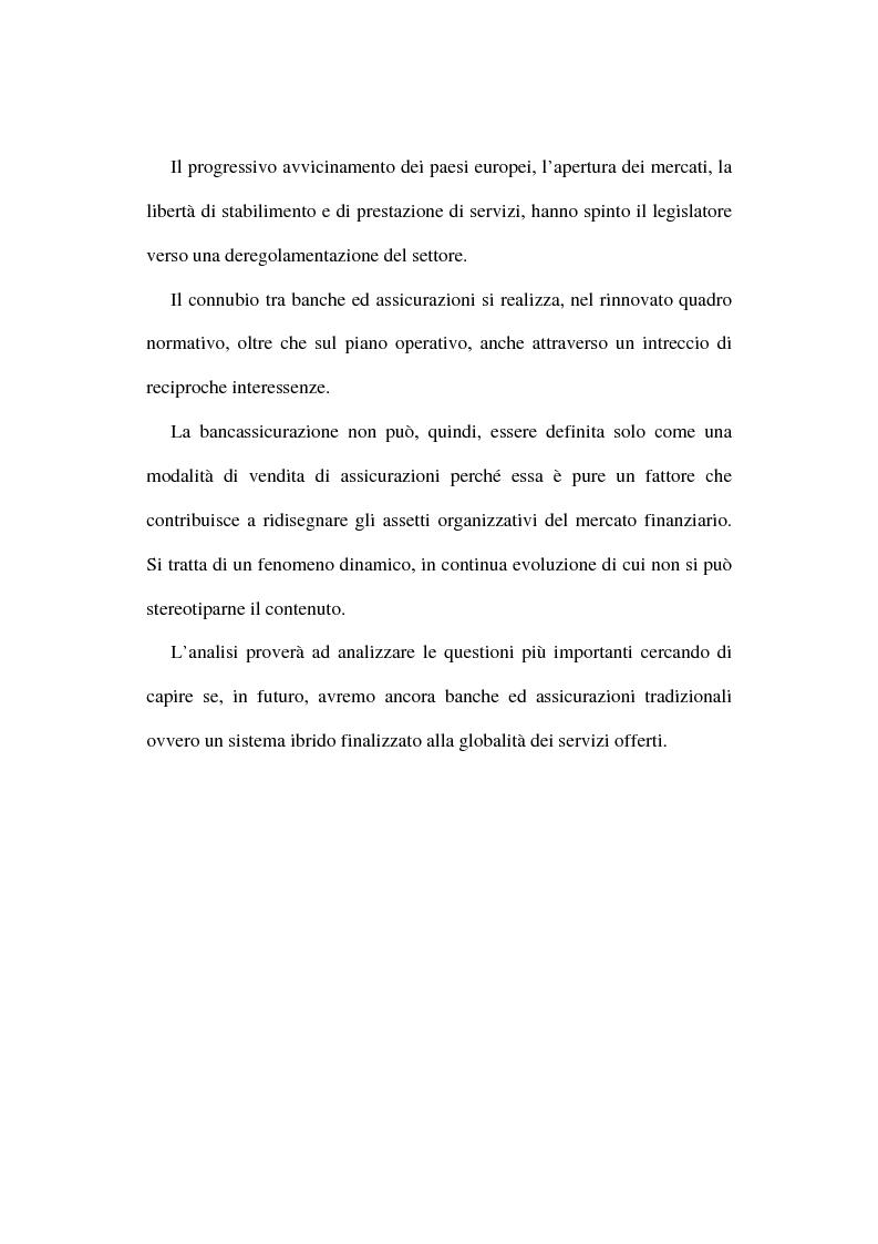 Anteprima della tesi: La bancassicurazione, Pagina 2