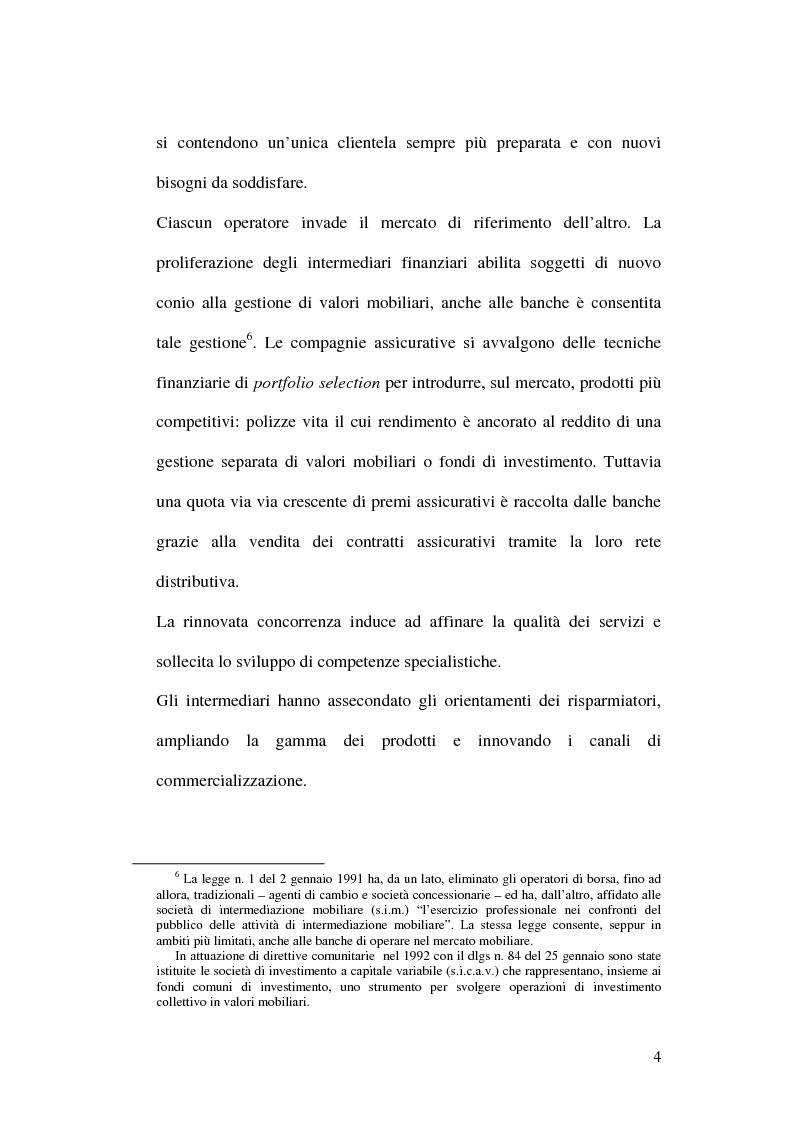 Anteprima della tesi: La bancassicurazione, Pagina 6