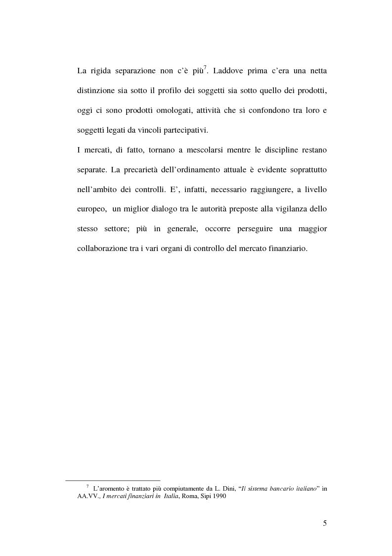 Anteprima della tesi: La bancassicurazione, Pagina 7