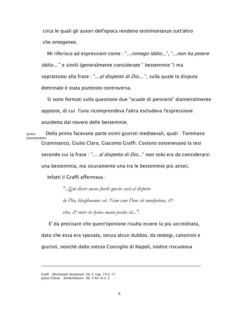 Anteprima della tesi: Il reato di bestemmia nel 1500, Pagina 8