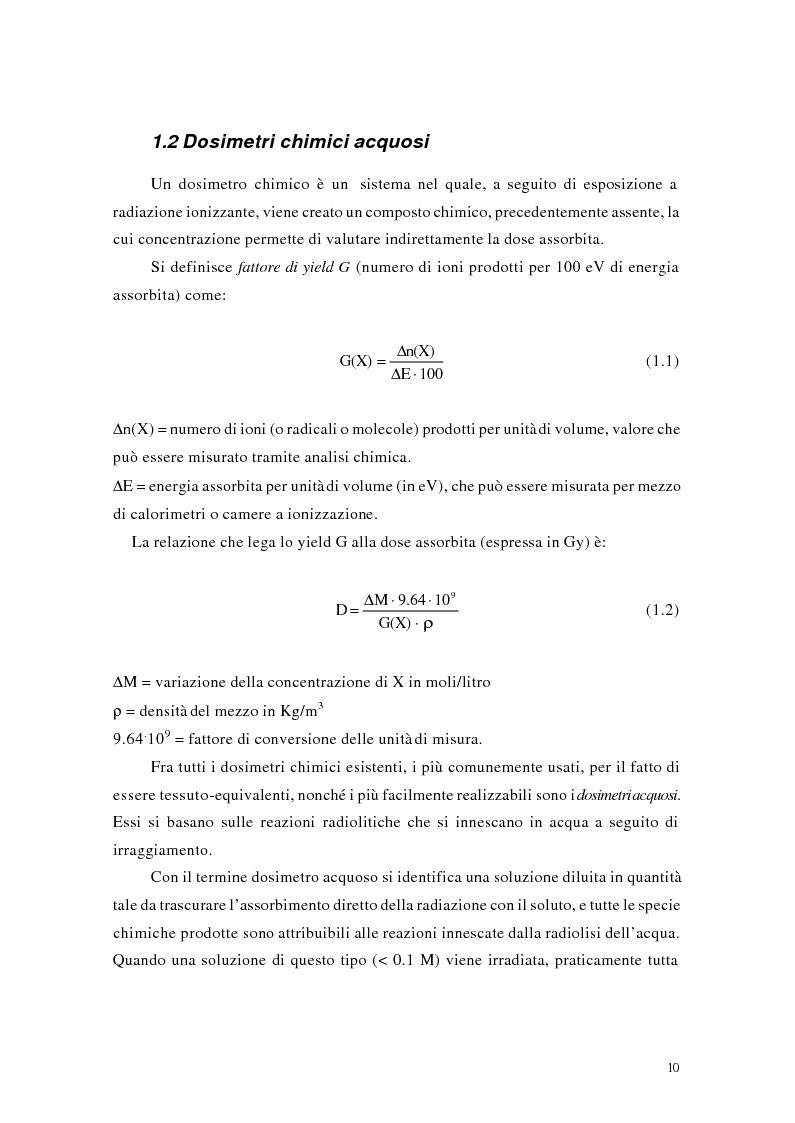 Anteprima della tesi: Studio e messa a punto di una tecnica innovativa per misure tridimensionali di dose assorbita in campi di radazione ionizzante, Pagina 6