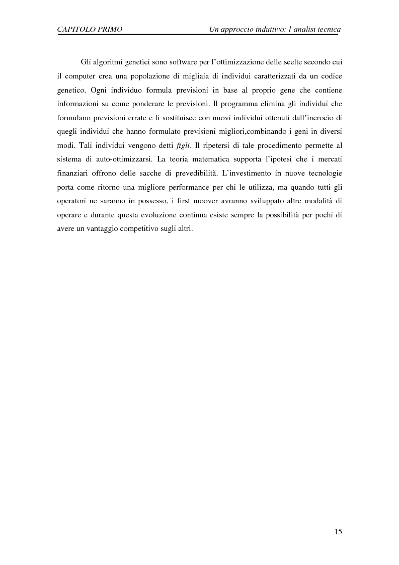 Anteprima della tesi: Attività di previsione dei corsi azionari, Pagina 15