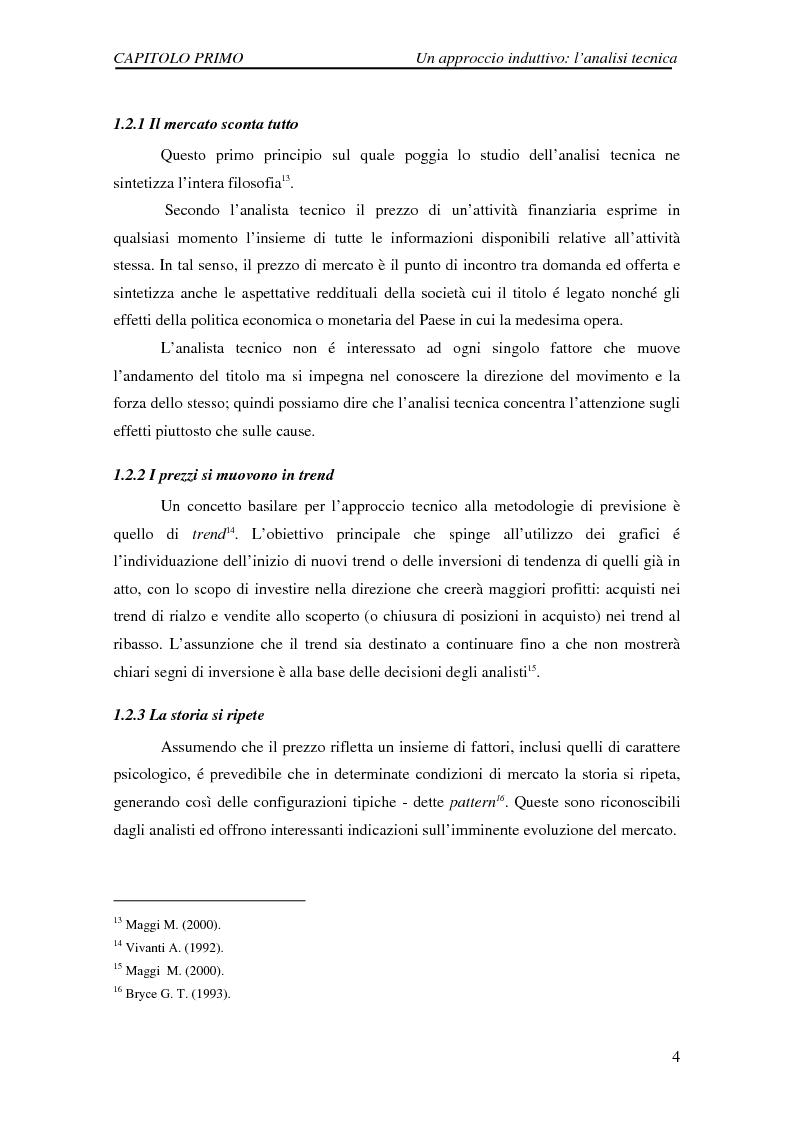 Anteprima della tesi: Attività di previsione dei corsi azionari, Pagina 4
