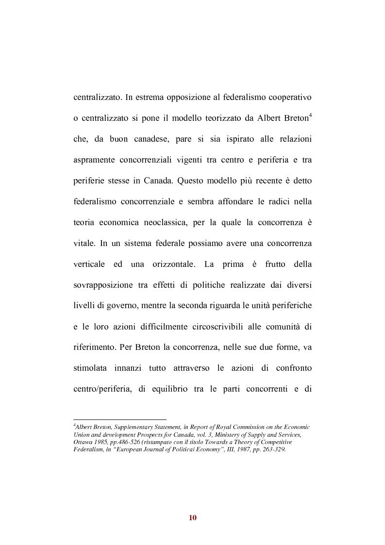 Anteprima della tesi: Sistemi di federalismo fiscale comparato: il caso Italia-Spagna, Pagina 13