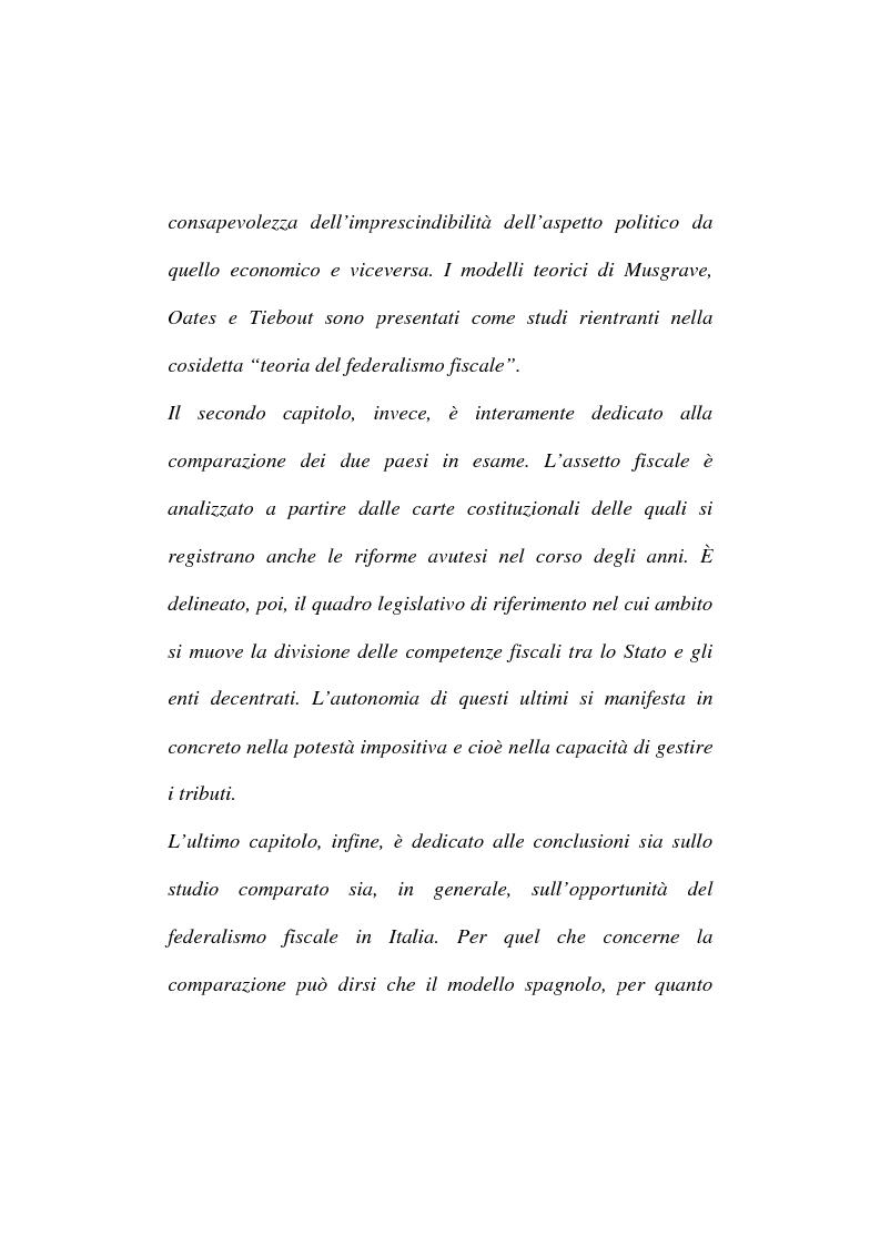 Anteprima della tesi: Sistemi di federalismo fiscale comparato: il caso Italia-Spagna, Pagina 2