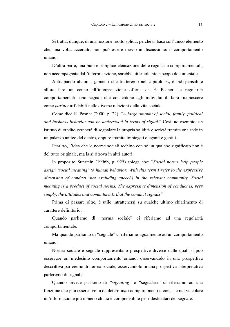 Anteprima della tesi: Analisi economica delle norme sociali, Pagina 11