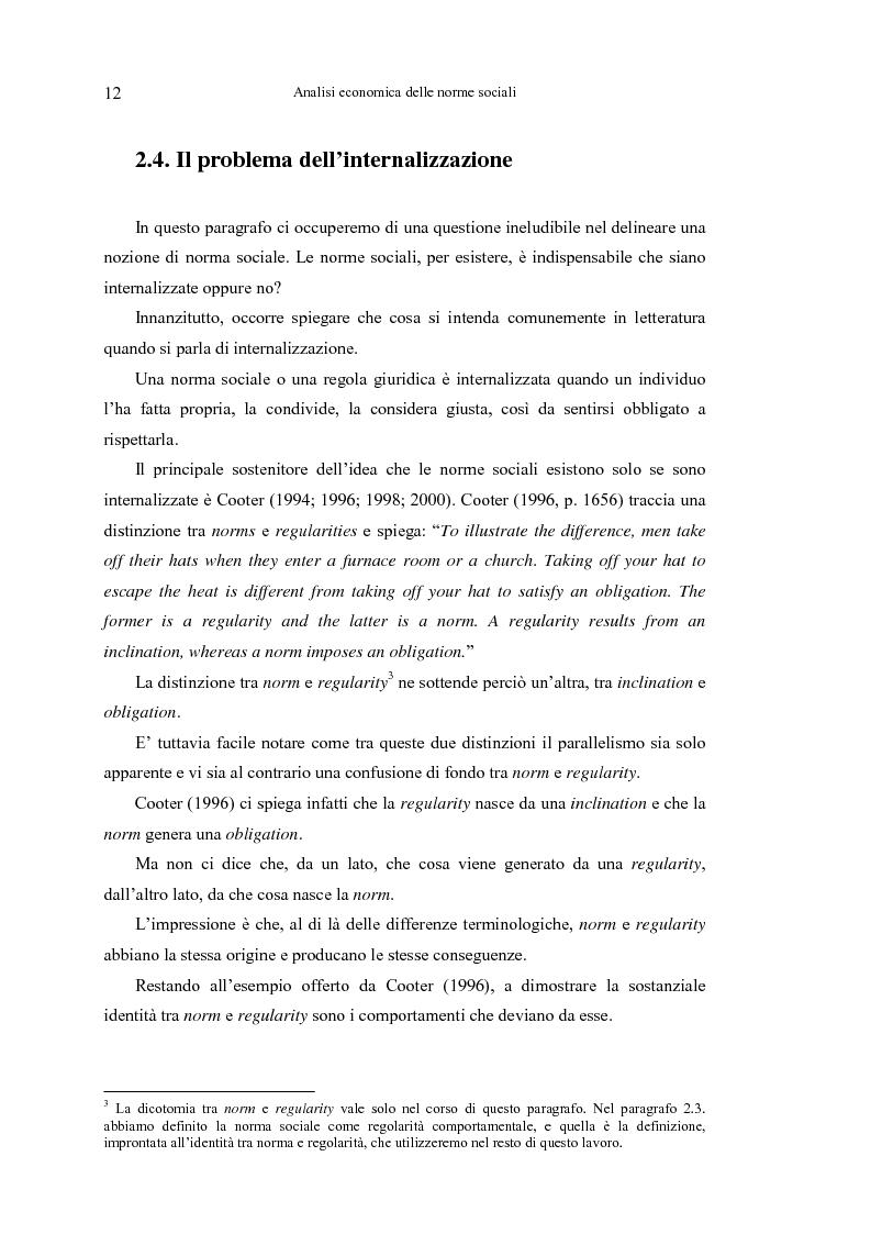 Anteprima della tesi: Analisi economica delle norme sociali, Pagina 12