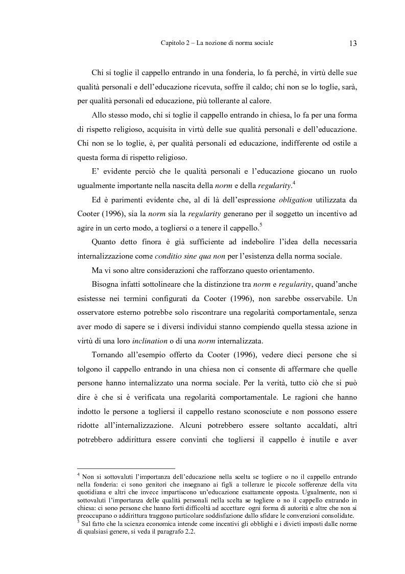 Anteprima della tesi: Analisi economica delle norme sociali, Pagina 13