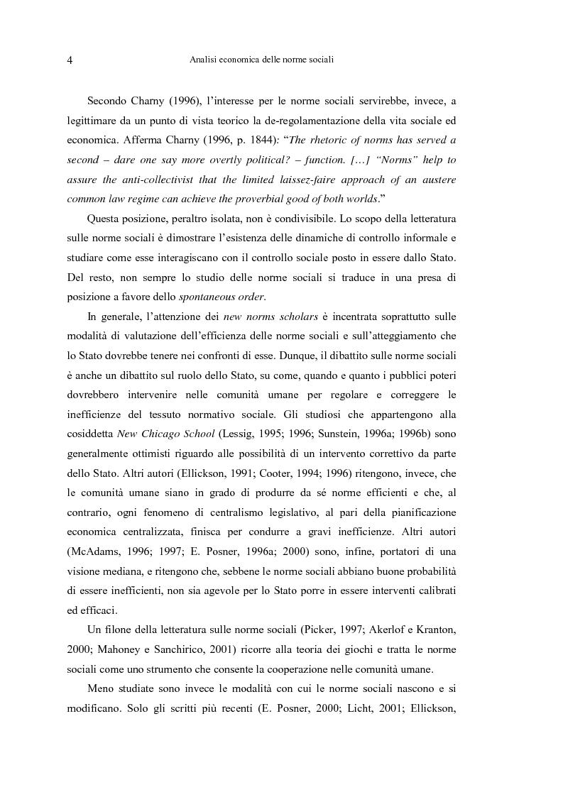 Anteprima della tesi: Analisi economica delle norme sociali, Pagina 4