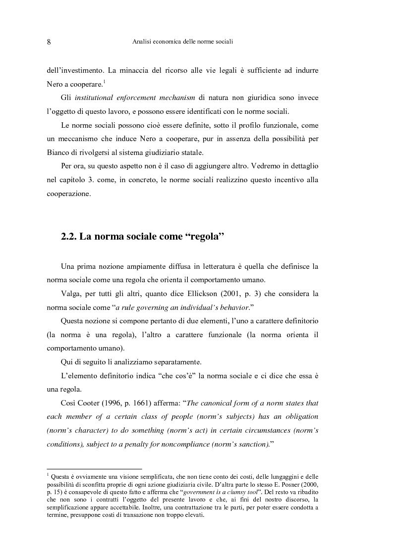 Anteprima della tesi: Analisi economica delle norme sociali, Pagina 8