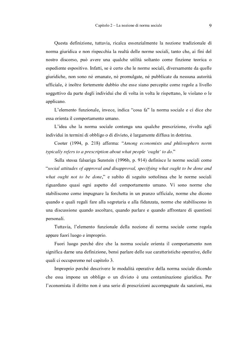 Anteprima della tesi: Analisi economica delle norme sociali, Pagina 9