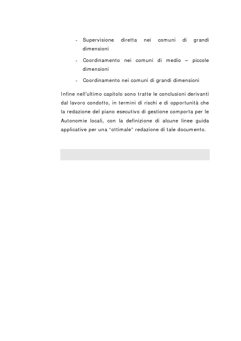 Anteprima della tesi: Il Peg nella contabilità comunale, Pagina 10