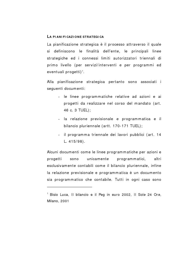Anteprima della tesi: Il Peg nella contabilità comunale, Pagina 13