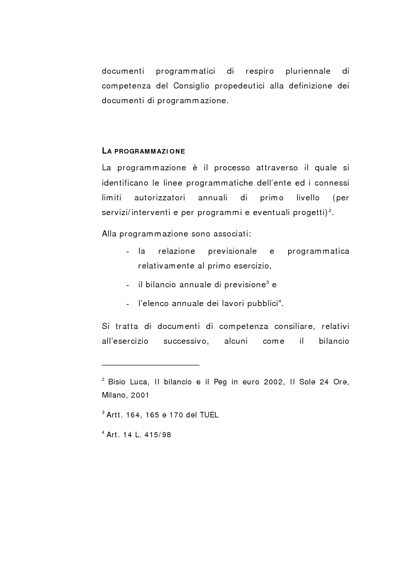 Anteprima della tesi: Il Peg nella contabilità comunale, Pagina 14
