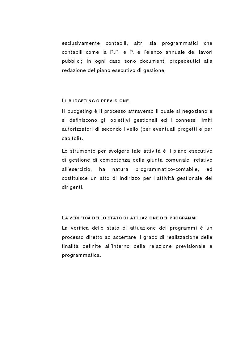 Anteprima della tesi: Il Peg nella contabilità comunale, Pagina 15