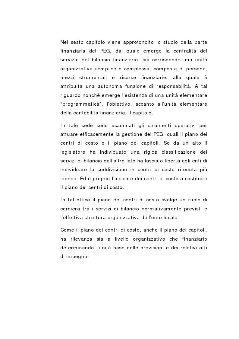 Anteprima della tesi: Il Peg nella contabilità comunale, Pagina 8