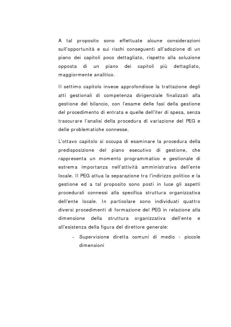 Anteprima della tesi: Il Peg nella contabilità comunale, Pagina 9