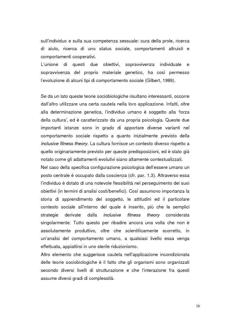 Anteprima della tesi: Modelli eziopatogenetici nelle teorie dei sistemi motivazionali: un confronto fra il modello cognitivo-evoluzionista di G. Liotti e la prospettiva psicoanalitica di J. D. Lichtenberg, Pagina 13