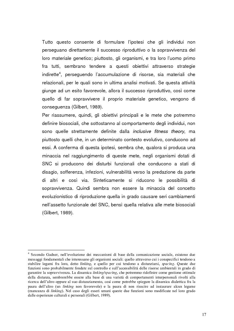 Anteprima della tesi: Modelli eziopatogenetici nelle teorie dei sistemi motivazionali: un confronto fra il modello cognitivo-evoluzionista di G. Liotti e la prospettiva psicoanalitica di J. D. Lichtenberg, Pagina 14