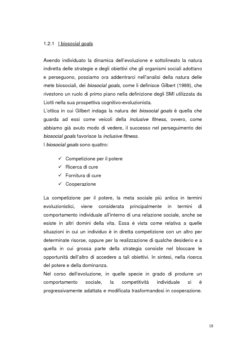 Anteprima della tesi: Modelli eziopatogenetici nelle teorie dei sistemi motivazionali: un confronto fra il modello cognitivo-evoluzionista di G. Liotti e la prospettiva psicoanalitica di J. D. Lichtenberg, Pagina 15