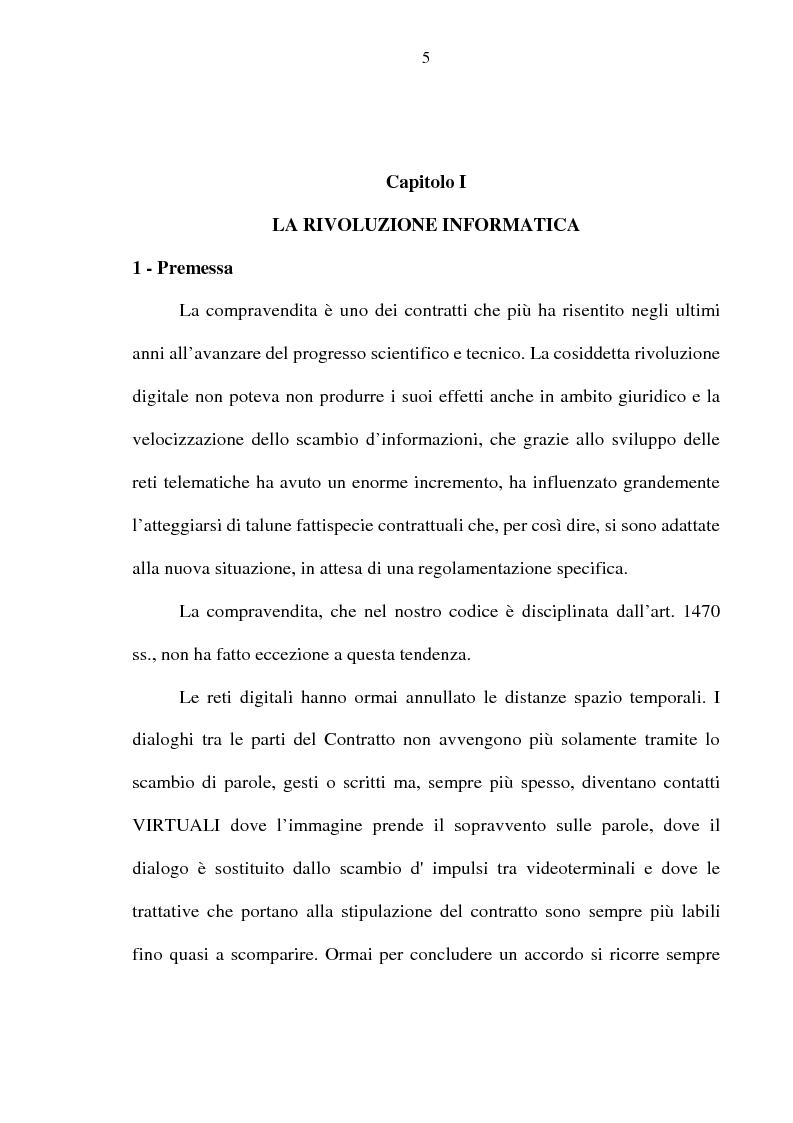 Anteprima della tesi: La vendita telematica, Pagina 1