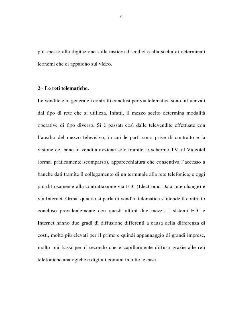 Anteprima della tesi: La vendita telematica, Pagina 2