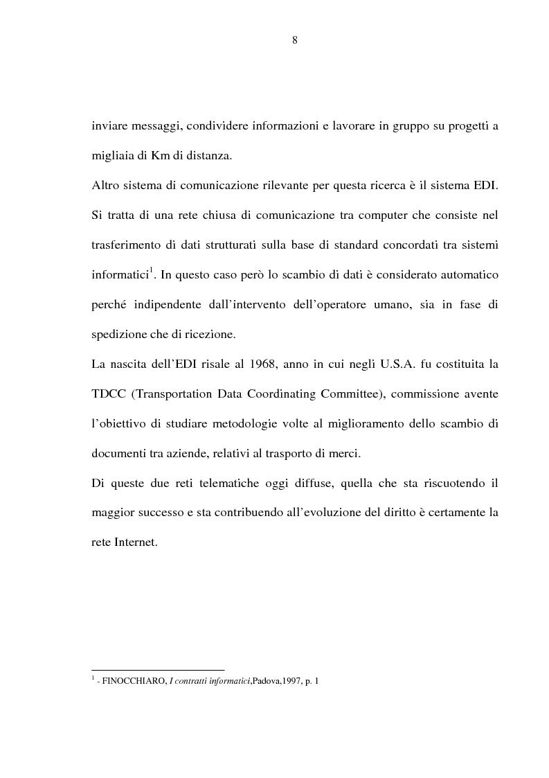 Anteprima della tesi: La vendita telematica, Pagina 4