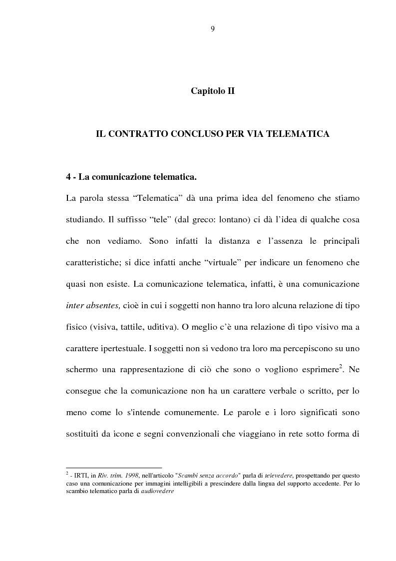 Anteprima della tesi: La vendita telematica, Pagina 5