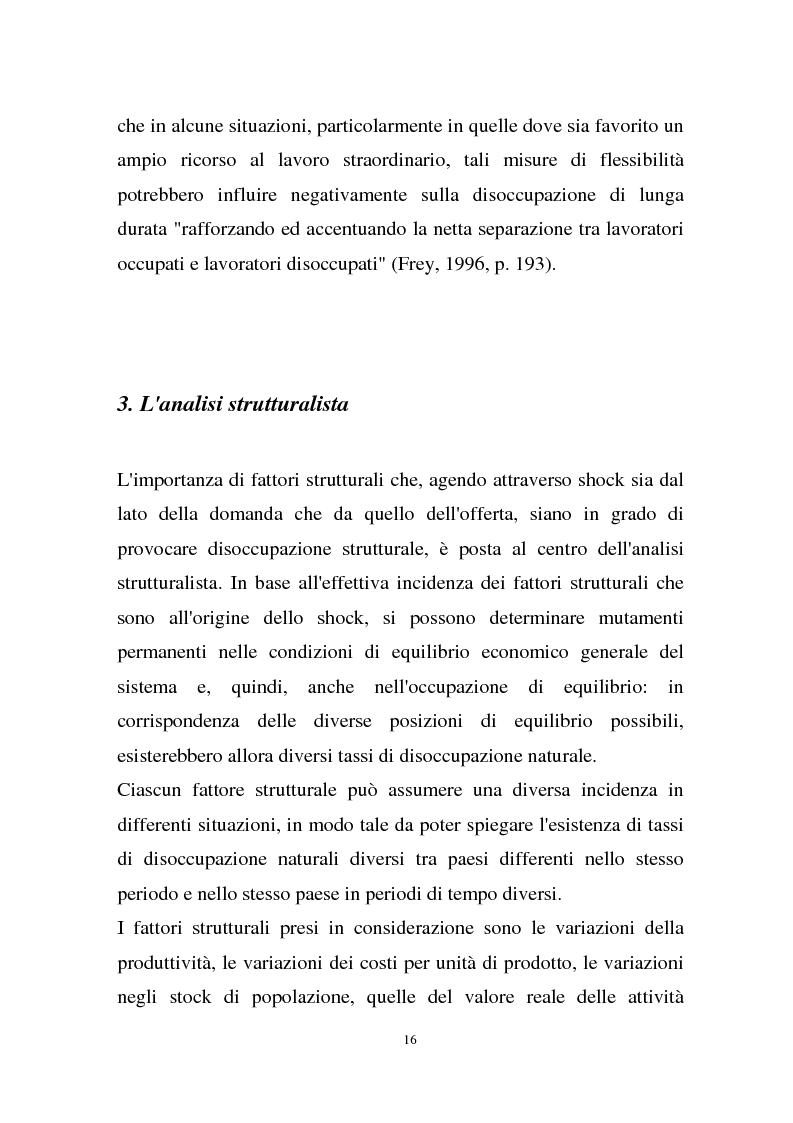 Anteprima della tesi: La disoccupazione strutturale e la gestione del tempo di lavoro in Europa, Pagina 10