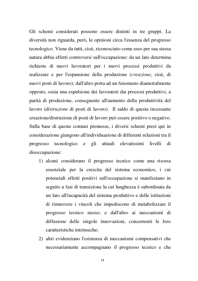 Anteprima della tesi: La disoccupazione strutturale e la gestione del tempo di lavoro in Europa, Pagina 12