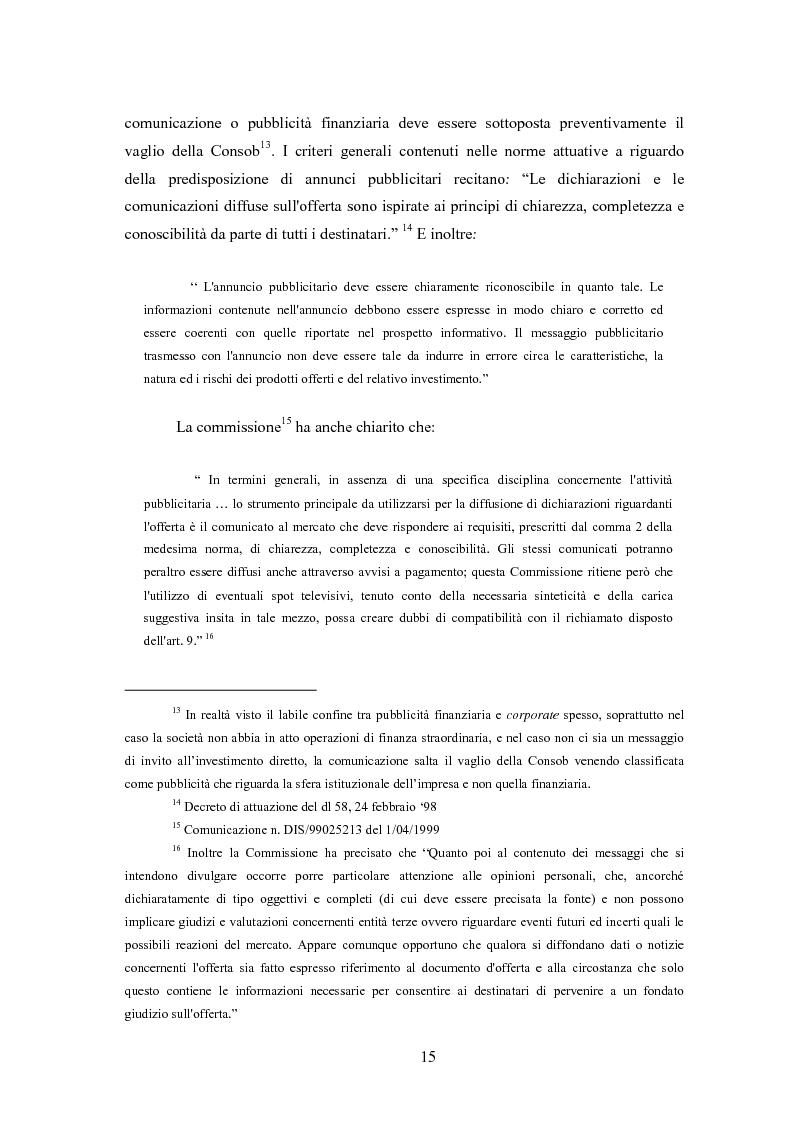 Anteprima della tesi: Comunicazione, immagine e valore d'impresa. Oltre la disclosure: la comunicazione finanziaria come mezzo per costruire la percezione del valore di mercato dell'impresa, Pagina 12