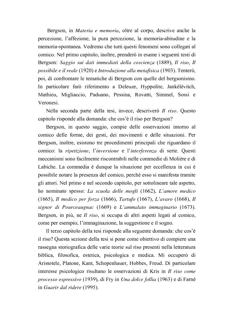 Anteprima della tesi: Intorno al concetto di comico in Henri Bergson, Pagina 2