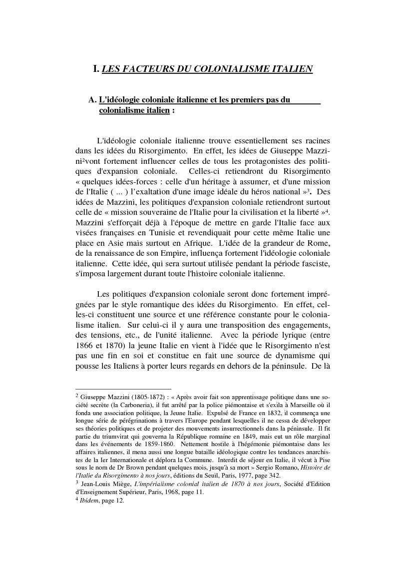 Anteprima della tesi: L'impèrialisme colonial italien depuis Crispi jusqu'à l' Impero, Pagina 3